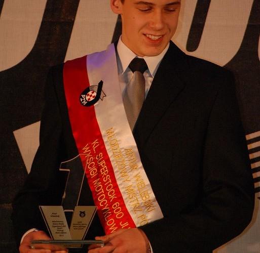 Artur Wielebski podium
