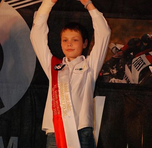 Kamil Osileniec II Wicemistrz Polski MX65 Mlodzik