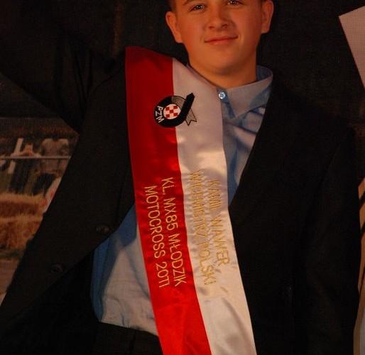 Kamil Wawer Wicemistrz Polski MX85 Mlodzik