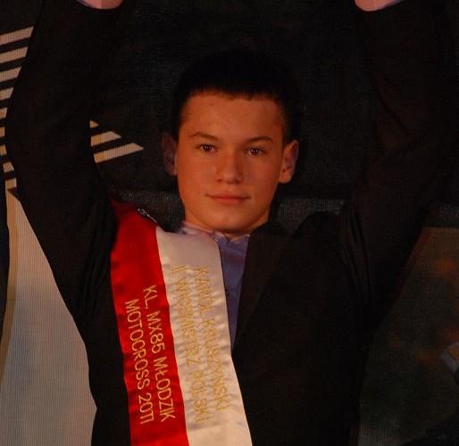 Karoll Kruszynski II Wicemistrz Polski MX85 Mlodzik