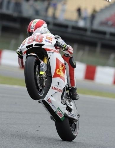 Na gumie Simoncelli HondaGresini Katalonia