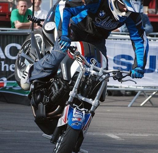 Hubert Dylon stunt Intermot F800R