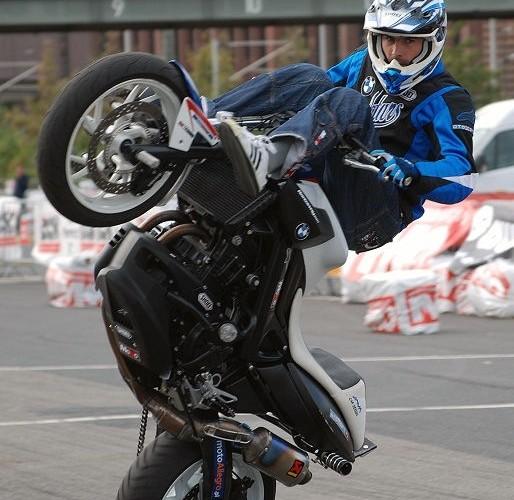 Hubert Raptowny stuntshow Intermot