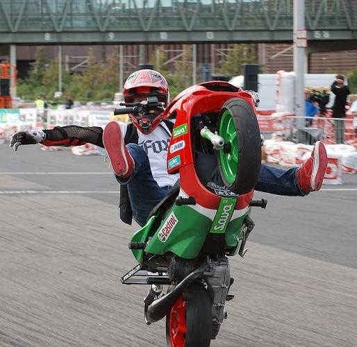 Scooter stunt Intermot Koln
