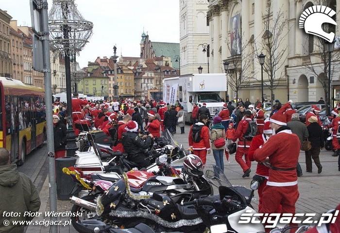Mikolaje na motocyklach 2011 Krakowskie Przedmiescie