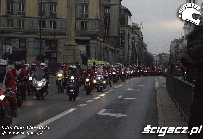 Mikolaje na motocyklach 2011 plac konstytucji