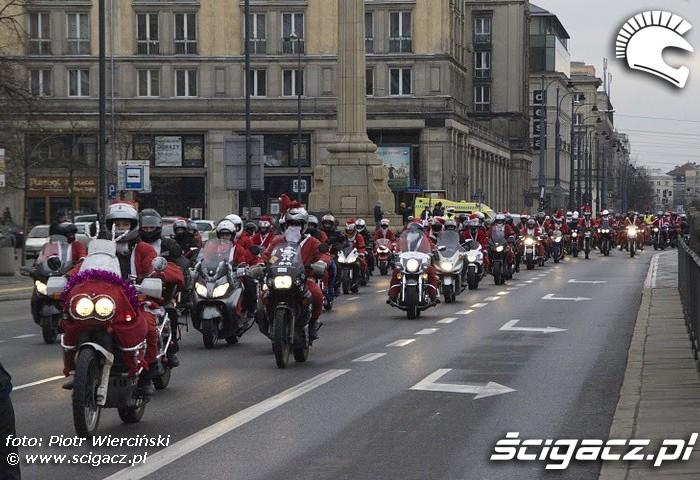Warszawa Mikolaje na motocyklach 2011