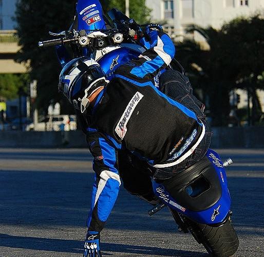 Raptowny stunt trening w Nicei