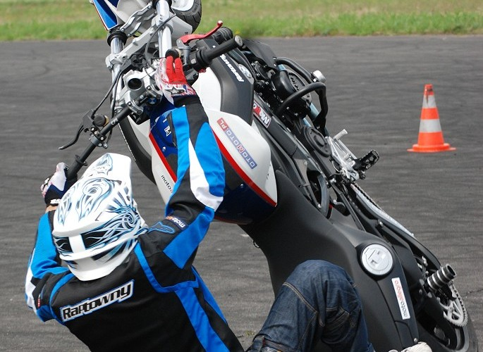 Gleba na motocyklu Raptowny