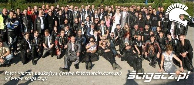 motocyklisci na slubie Zaneta i Marcin
