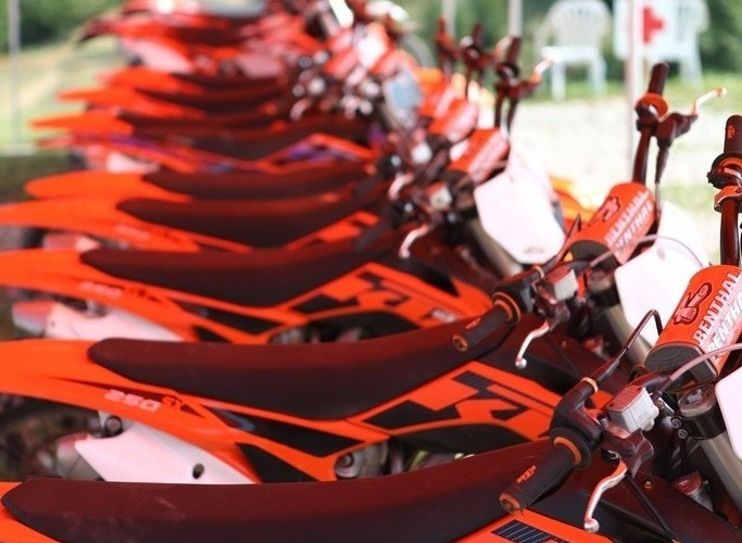 Motocykle testowe Prezentacja KTM 2013