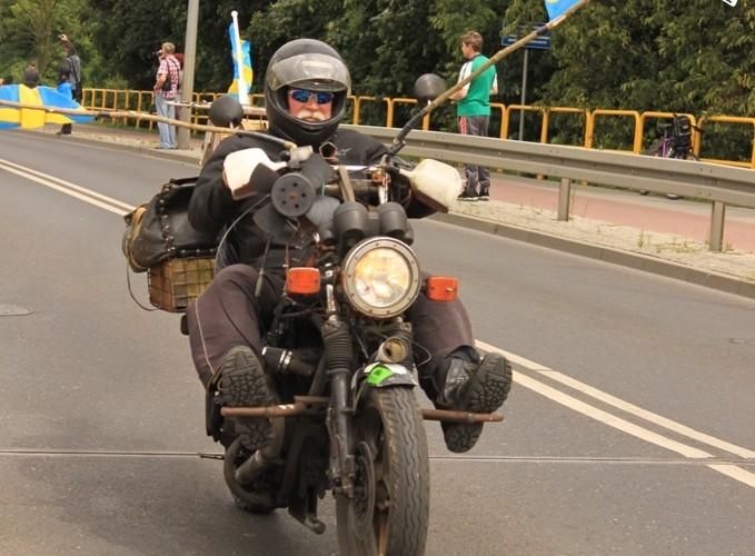 motocyklista ze szwecji