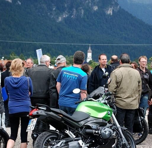 Motocykl i gory Garmisch