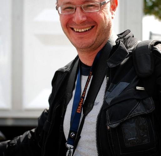 Motocyklista z Polski