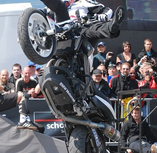 Pokazy stuntu Garmisch Chris Pfeiffer