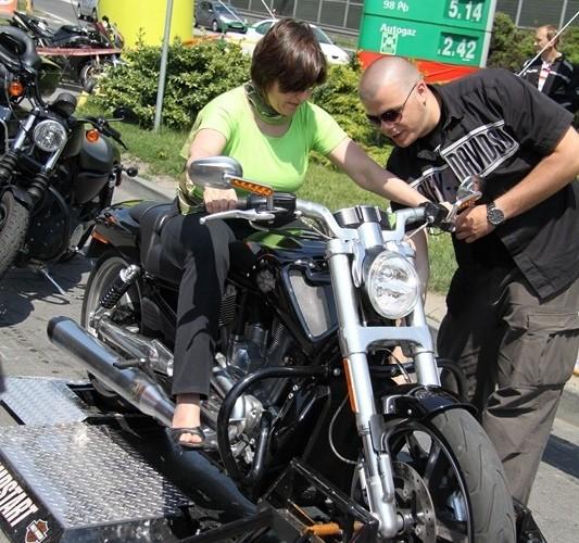 jazda stacjonarna Harley Davidson