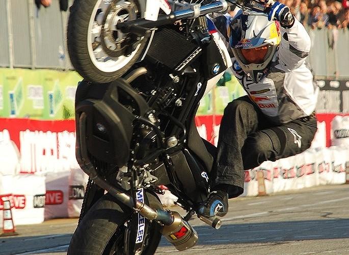 Pfeiffer stunt rider EICMA