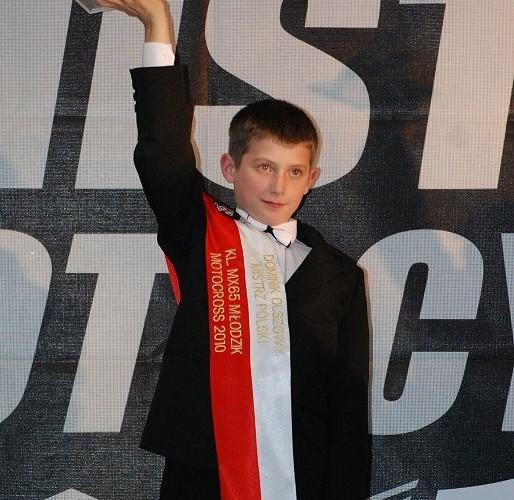 Dominik Olszowy Mistrz Polski Klasa MX65 Mlodzik
