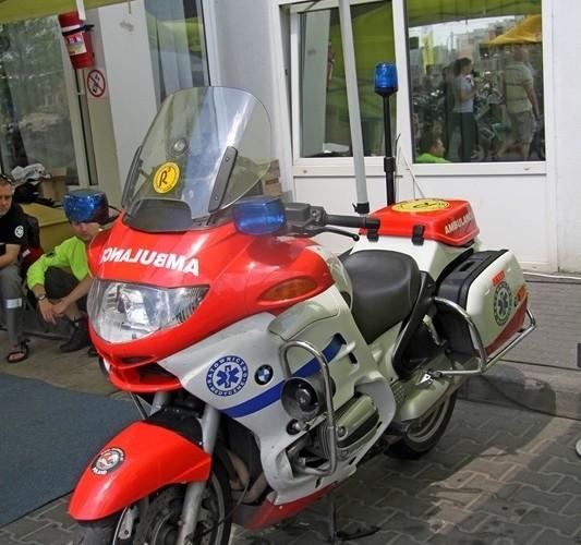 ambulans Motocyklowa Niedziela na BP wroclaw