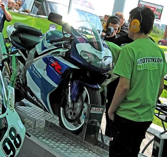 Motocyklowa Niedziela BP gixxer hamownia