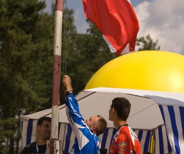 flaga polski zawodnicy motocross lonka mank lidzbark warminski