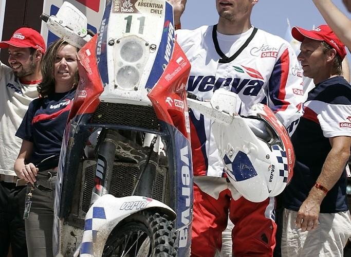 Kuba Przygonski 8 motocyklista Rajdu Dakar 2010 meta