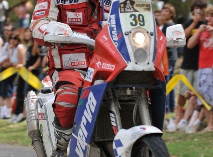 Marek Dabrowski na mecie Rajdu Dakar