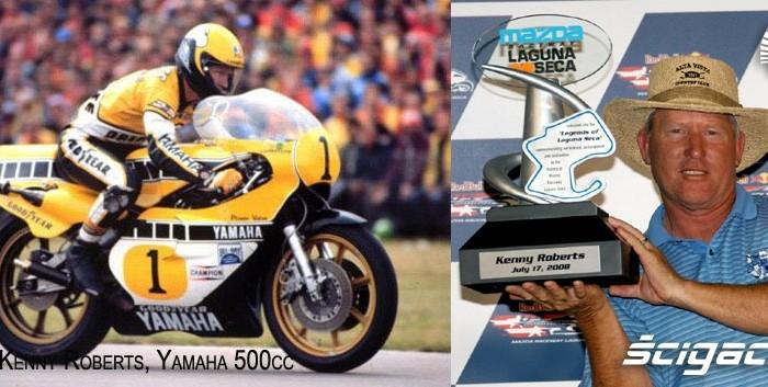 18) 1980 Yamaha 500cc Kenny Roberts z trofeum Legends Lagu