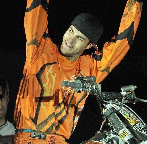 FMX rider show on Eurexpo