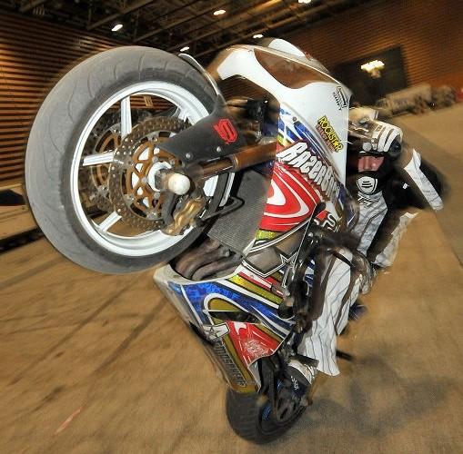 Julien Welsch Razerback stunt show Eurexpo