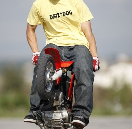 Honda XR50 stunt