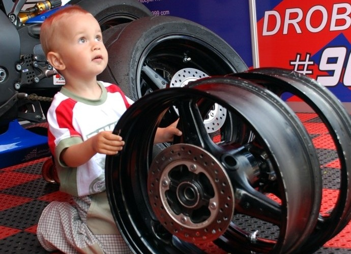 World Superbike Brno round drobny child