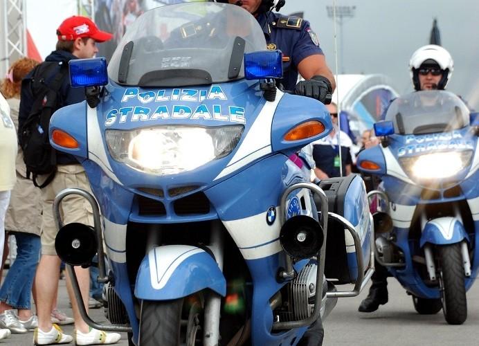 Italian police on bikes