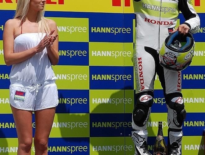 Carlos Checa podium Brno