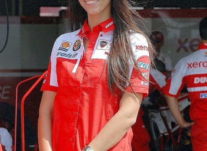 Ducati Xerox girl paddock