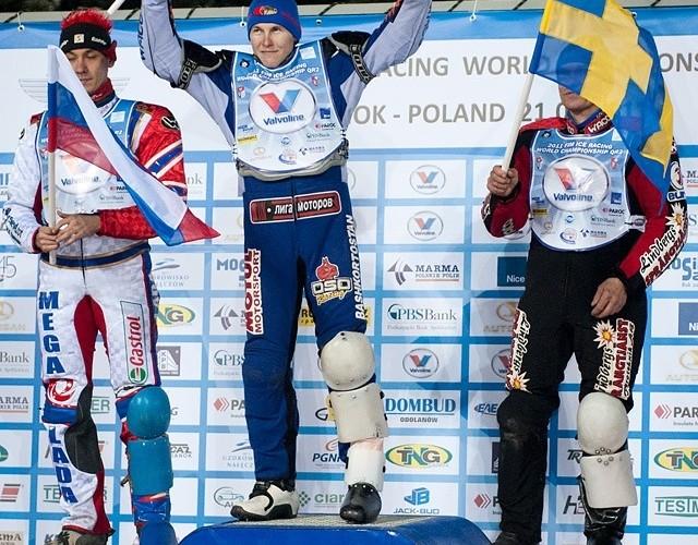 podium kwalifikacje do GP - od lewej Iwanow Krasnikow Svensson