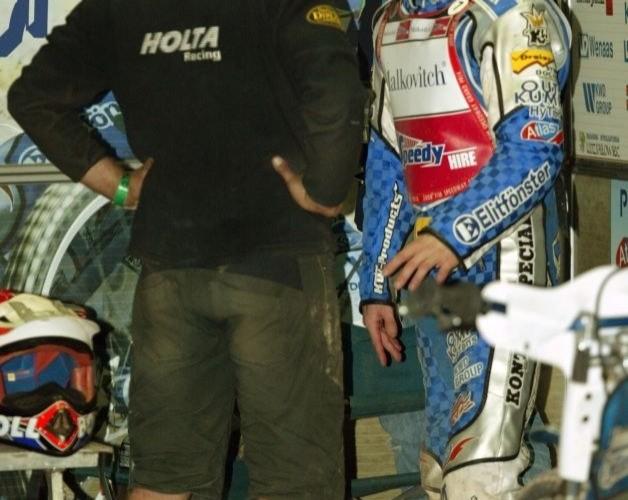Rune Holta w swoim boksie