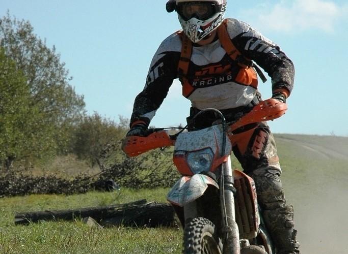 KTM EXC250 2010 w ruchu