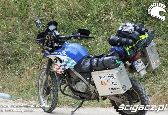 dakar bmw  Bulgaria i Rumunia na motocyklach - be hardcore