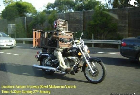 grill na motocyklu