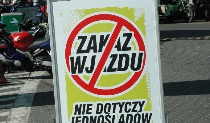Zakaz wjazdu dla samochodow Motocyklowa niedziela BP Poznan