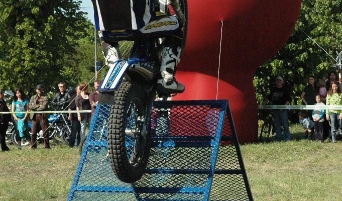 Motocyklowa niedziela BP Poznan rampa trialowa