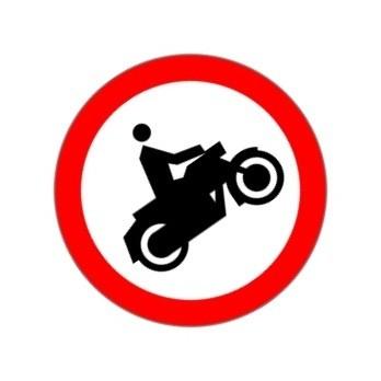 zakaz wjazdu motocyklem