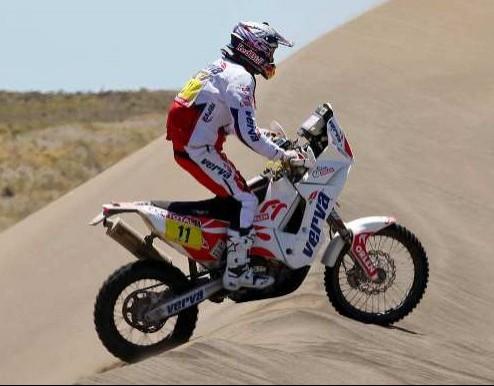 Kuba Przygonski na wydmach Dakar 2012 z