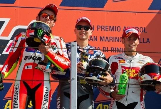 MotoGP podium z