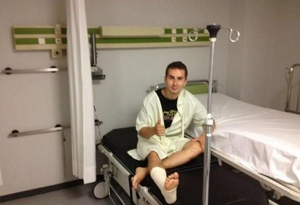Lorenzo w szpitalu z