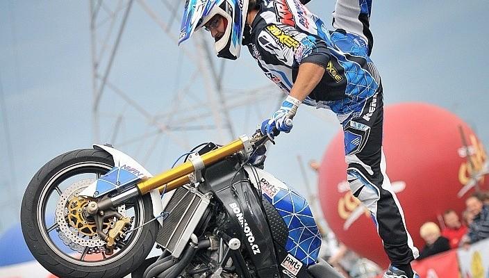 triki na motocyklu z