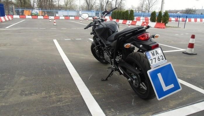 Motocykl egzaminacyjny z