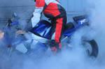 Yamaha YZF-R1 burnning -